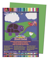 "SunWorks® Construction Paper, 9"" x 12"" Bright Green"