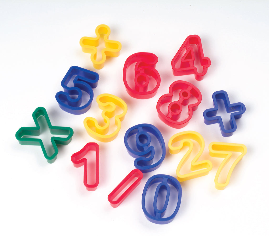 Dough Cutters - Numbers & Math Symbols - 14 Pieces