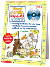 Word Family Sing-Along Flip Chart & CD