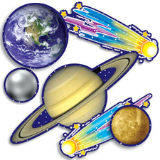 Accent Punch-Outs Solar System 93 Pieces Mini Bulletin Board Set
