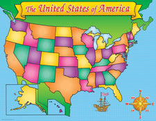 USA Map Friendly Chart