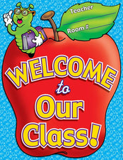 Chart Welcome To Our Class 17 x 22 Plastic-Coated