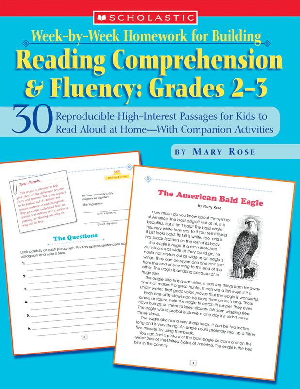 Week-by-Week Homework for Building Reading Comprehension & Fluency: Grades 2–3