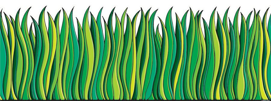 Tall Green Grass Jumbo Border