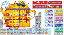 Super Sunshine Calendar Bulletin Board Set