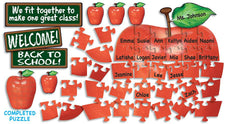 Welcome Apple Puzzle Pieces Bulletin Board Set