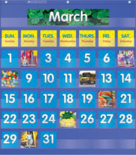Monthly Calendar Pocket Chart Gr K-5