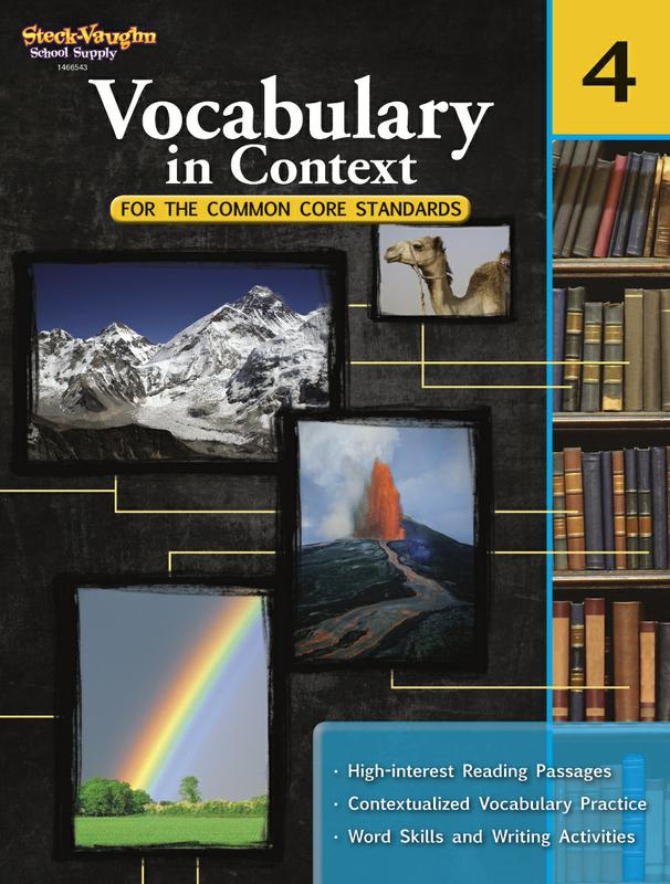 Gr 4 Vocabulary In Context For The Common Core Standards