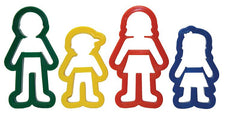 Dough Cutters - Family Shapes - 4 Pack