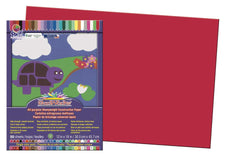 "SunWorks® Construction Paper, 12"" x 18"" Holiday Red"