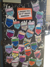 Pocket Full of Memories! - End of the Year Door Display