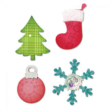 Sizzix® Bigz™ Die - Christmas Tree, Ornament, Snowflake & Stocking
