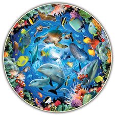 Round Table Puzzle - Ocean View (500-Piece)