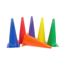 "Rigid 18"" Plastic Cones, Set of 6"