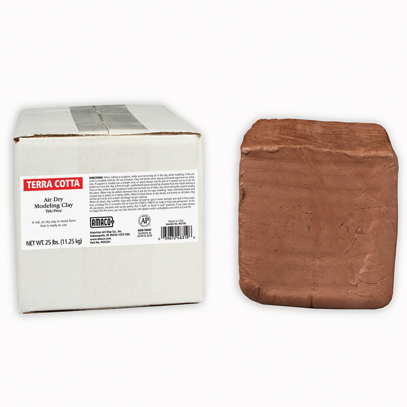 Amaco Air Dry Clay Terra Cotta 25Lb