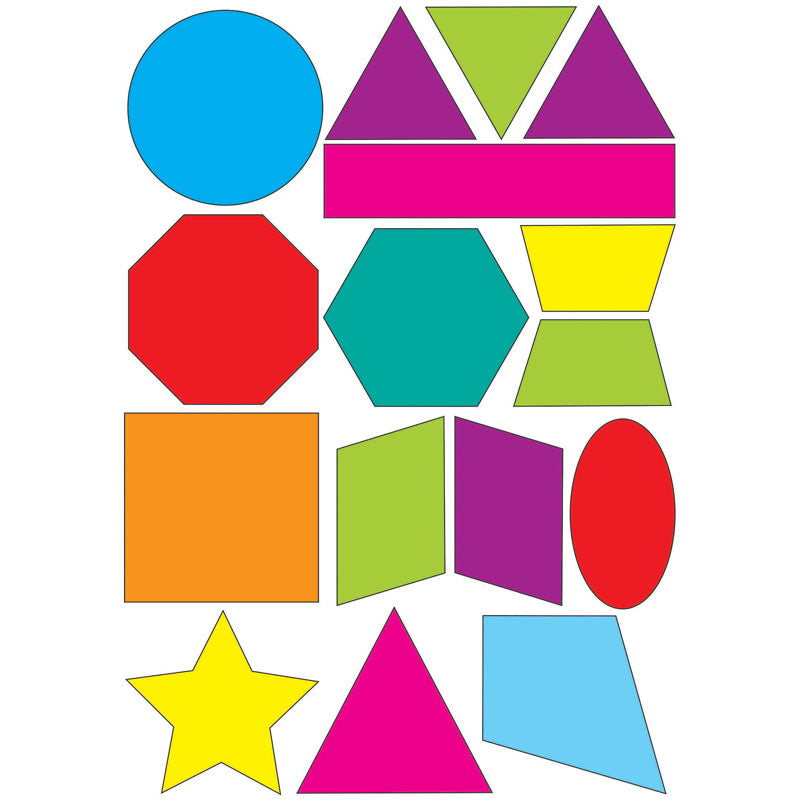 Ashley Productions Math Die-Cut Magnets, Shapes
