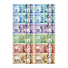 Die-Cut Magnetic Canadian Dollars