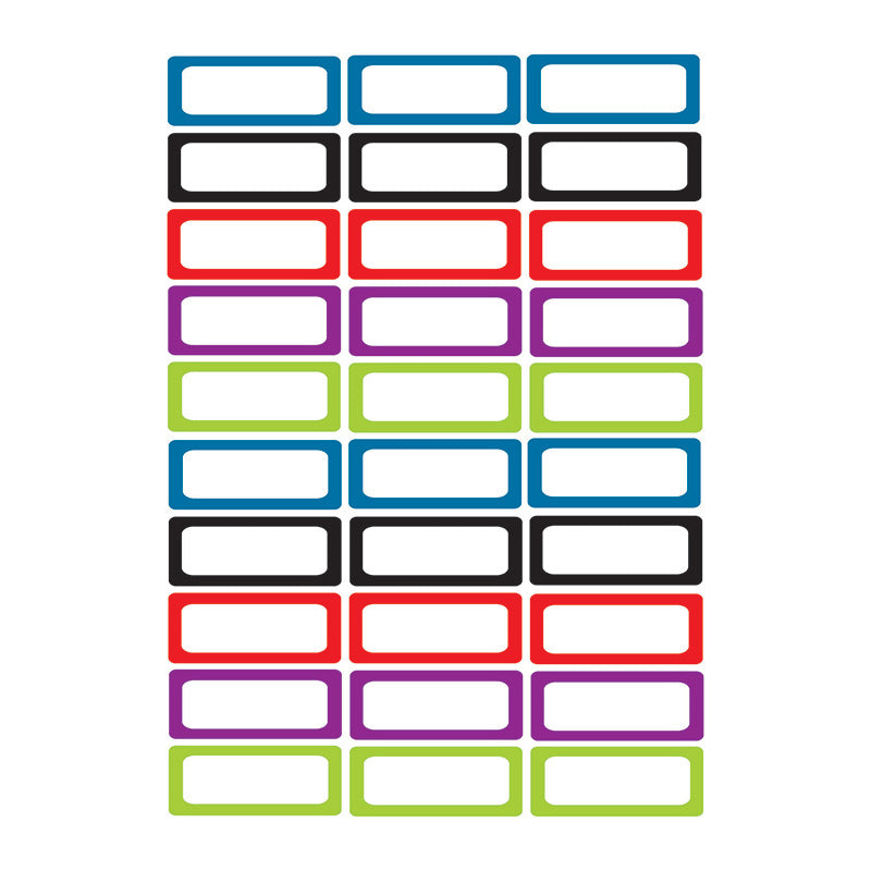 Small Magnetic Labels Assorted Color 10078 Supplyme