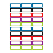 Small Magnetic Labels, Assorted Color