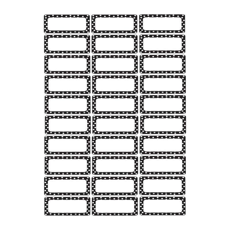 Small Magnetic Labels, Black & White Dots