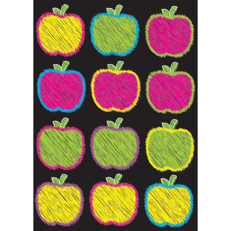 Die-Cut Magnetic Scribble Apples