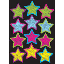 Die-Cut Magnetic Scribble Stars