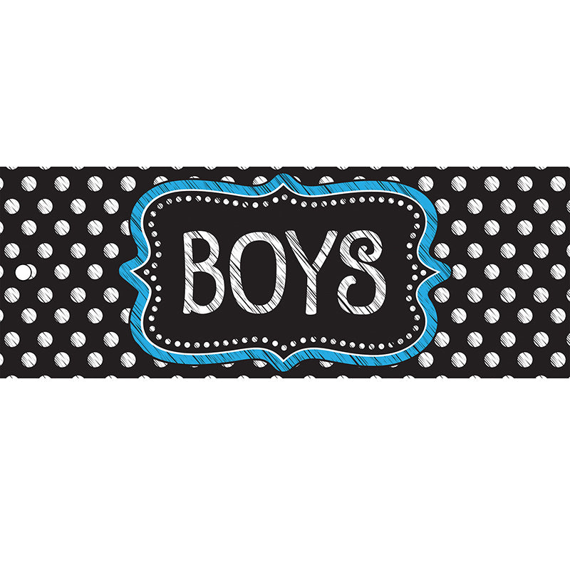 Black & White Dots Boys Laminated Pass