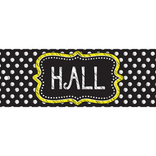Black & White Dots Hall Laminated Pass