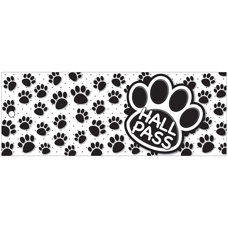 Black Paw Hall Laminated Pass