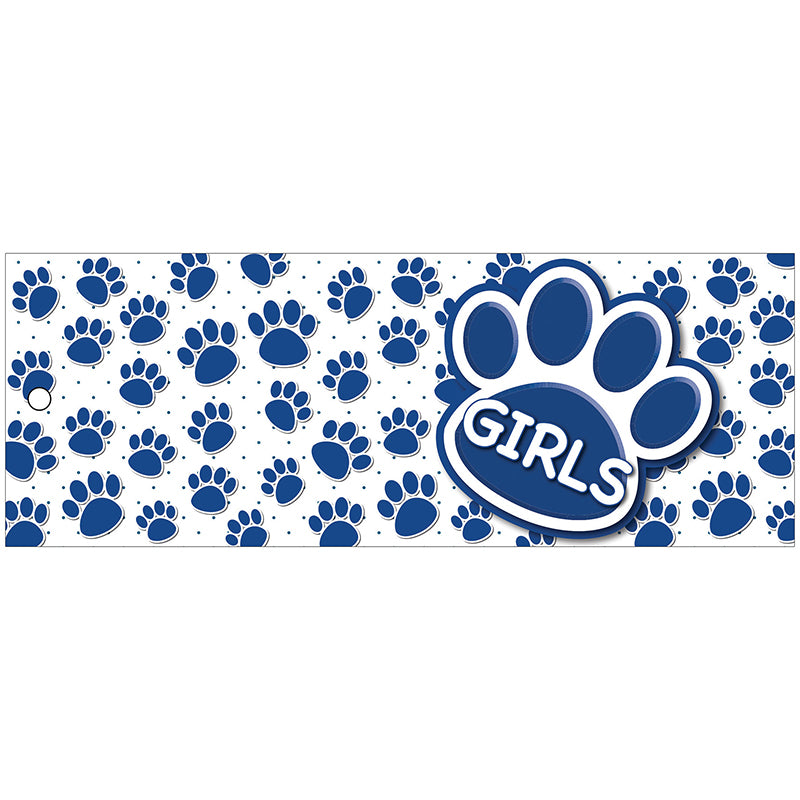 Blue Paw Girls Laminated Pass