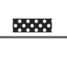 Mini Magnetic Magi-Strips, Black & White Dots