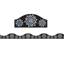 Magnetic Snowflakes Border