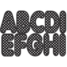 "Black & White Dots 2.75"" Magnetic Letters"