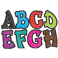 "Modern Hip Colorful Chalk 2.75"" Magnetic Letters"