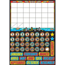 Superhero Calendar Mini Magnetic Set