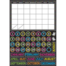 Chalk Calendar Mini Magnetic Set