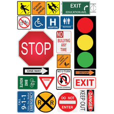 Safety/Class Signs Mini Magnetic Set