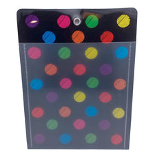 "Colorful Chalk Dots 10"" x 13"" Poly Pocket"