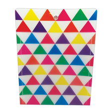 "Triangle 10"" x 13"" Poly Pockets, 12 Pack"