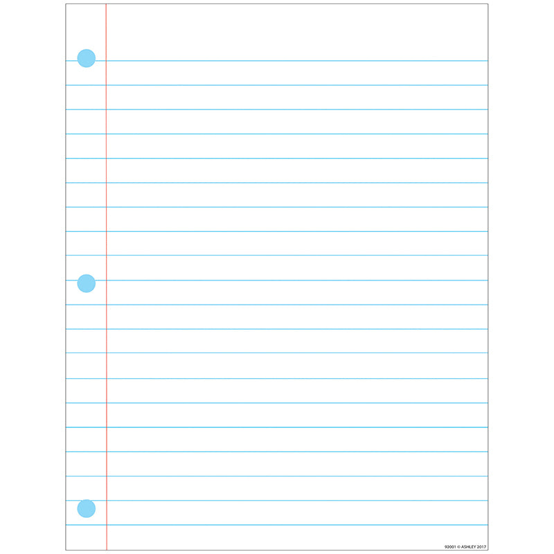 Notebook Paper Smart Poly™ Chart