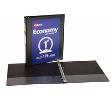 "Avery® Economy View Binder with 1"" Round Ring, Black"