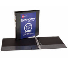 "Avery® Economy View Binder with 1-1/2"" Round Ring, Black"