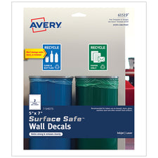 "Surface Safe™ Wall Decals, 5"" x 7"""