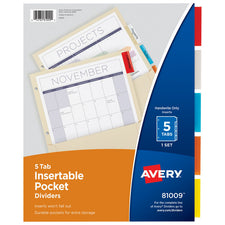 Pockets n' Tabs Insertable Dividers 5 Tab Set