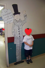 Life-Size Presidents - February Bulletin Board