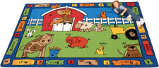 "Alphabet Farm Classroom Rug, 4'5"" x 5'10"" Rectangle"