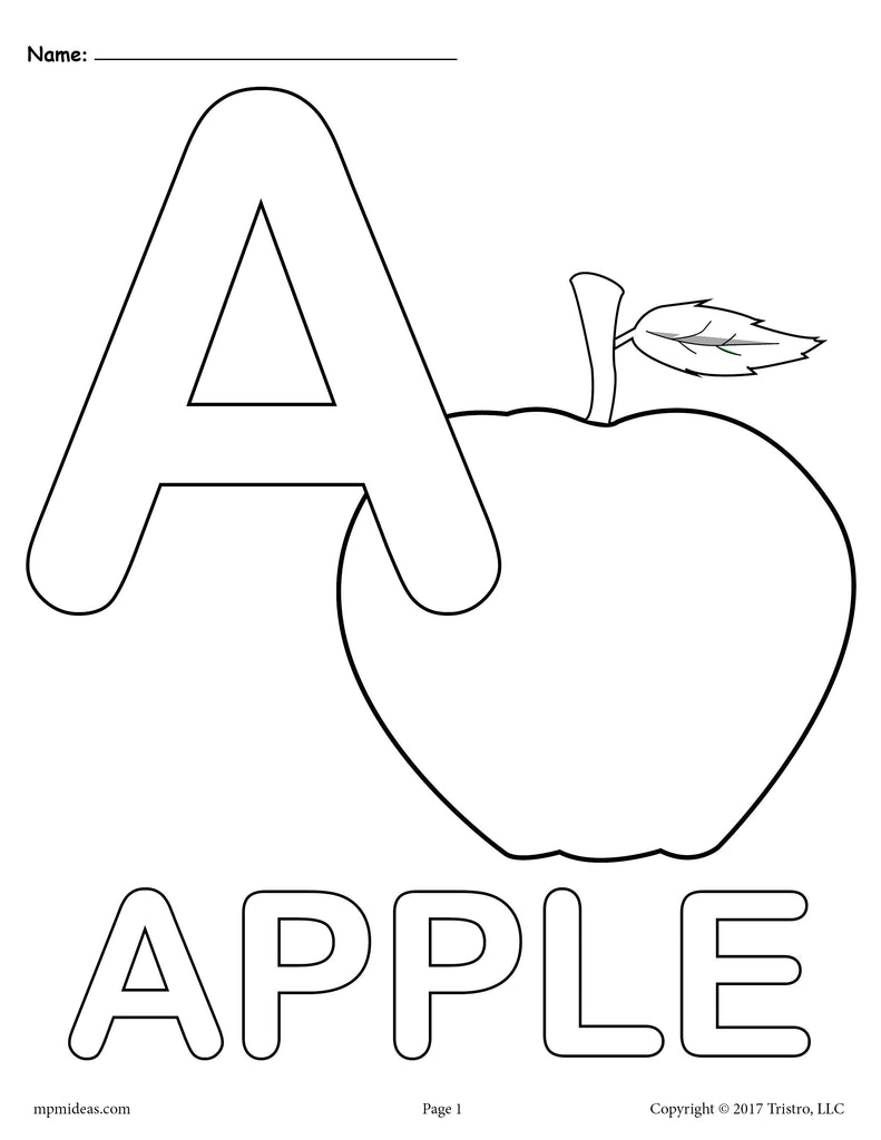 Uppercase Letter A Coloring Page