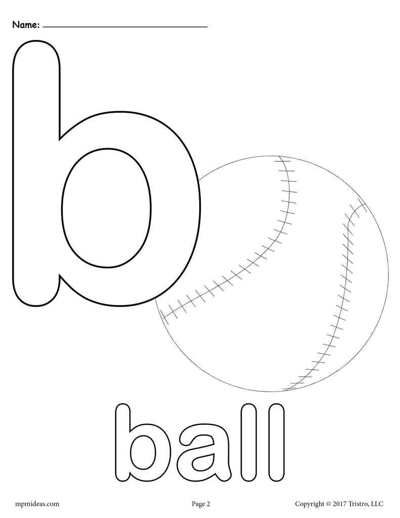 Alphabet letters coloring pages b ~ Letter B Alphabet Coloring Pages - 3 FREE Printable ...