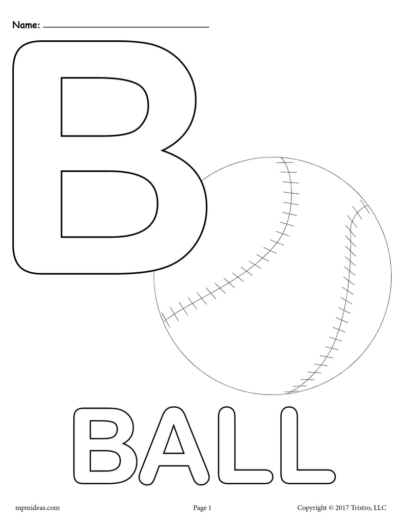 Letter B Alphabet Coloring Pages - 3 Printable Versions!