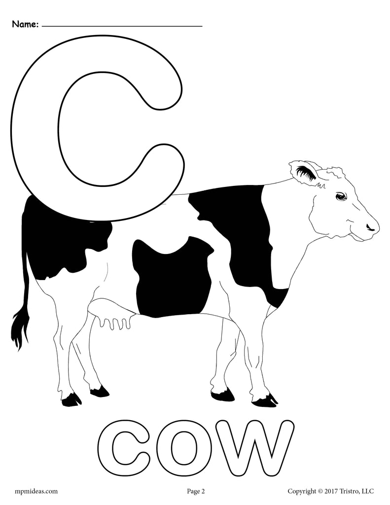 Letter C Alphabet Coloring Pages - 3 FREE Printable ...
